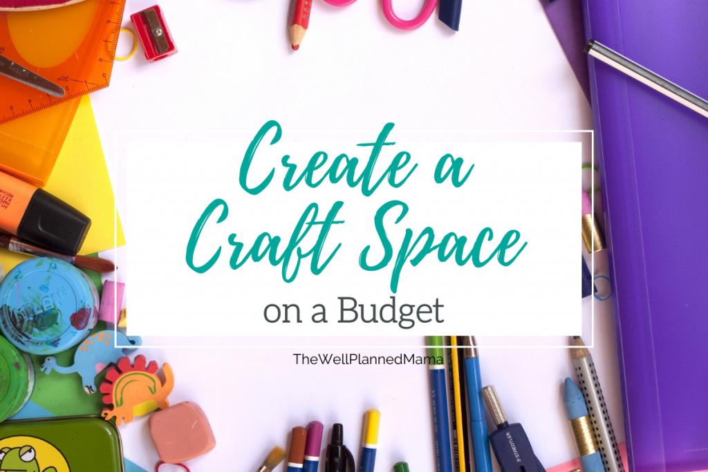 A closet turned into a designated craft space