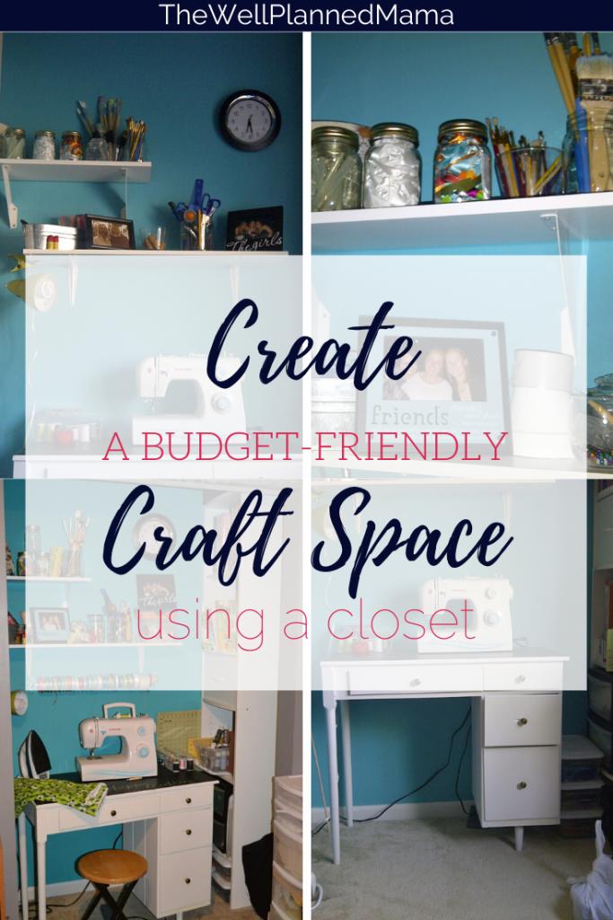 Crafting closet set up