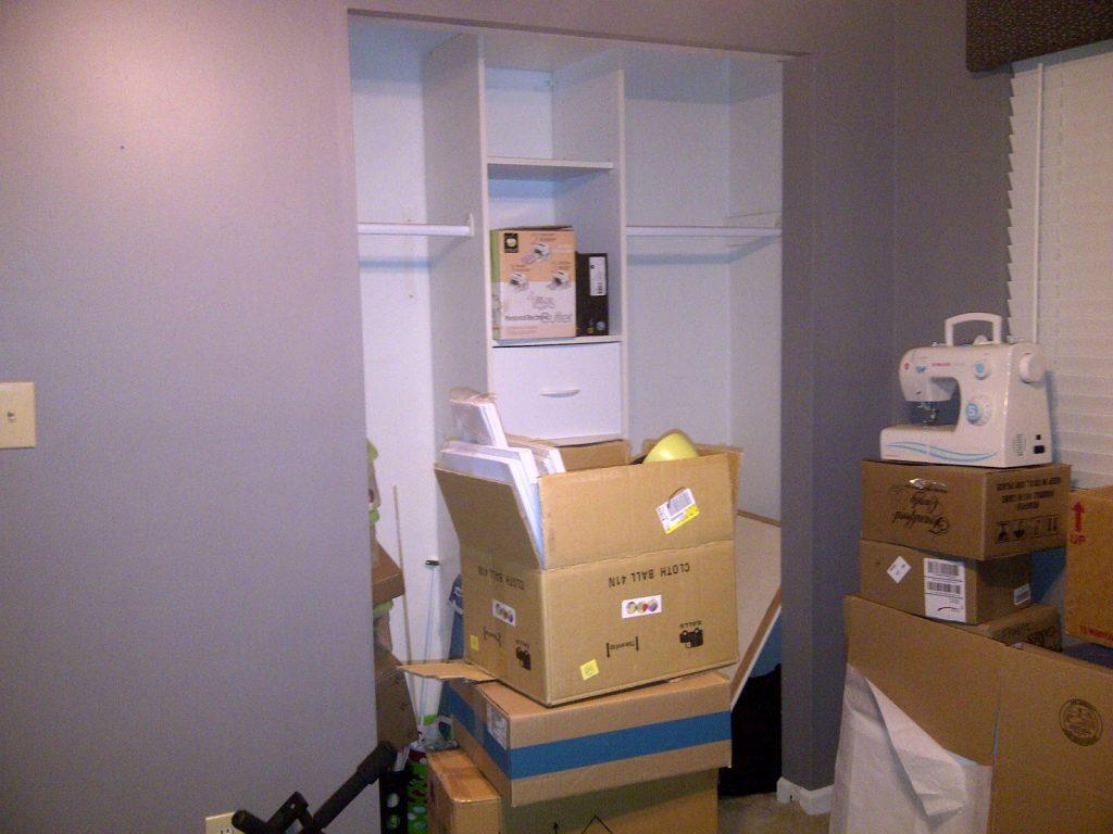 creating a closet craft room