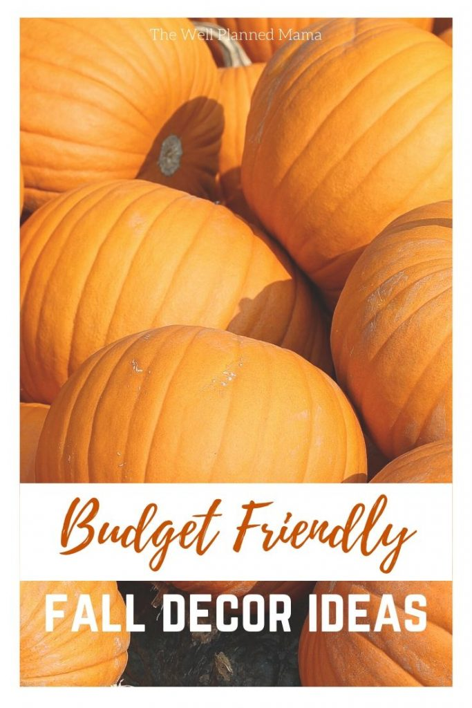 Easy budget friendly fall and autumn decoration ideas.