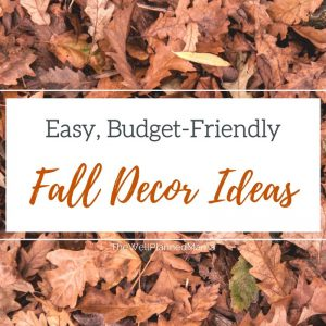 Easy, Budget-Friendly Fall decor ideas