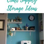 Craft supply storage for the small spce