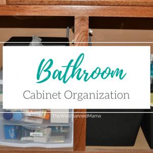 Bathroom cabinet organization and storage ideas