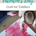 Easy, hands-on craft for a toddler on Valentine's day