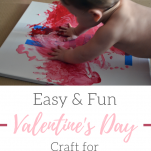Easy Valentine's day painting activity for toddlers