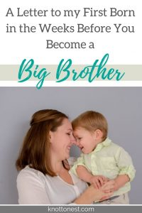 A letter to my oldest before your baby sister is born