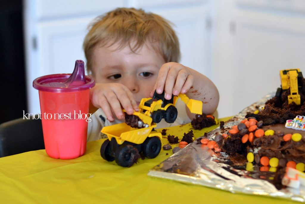Toddler construction birthday party