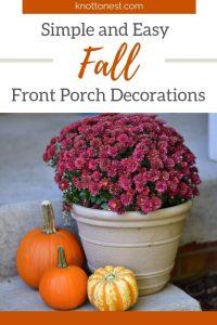 Easy front porch fall decor