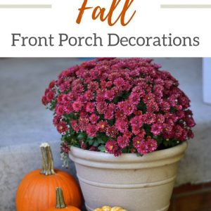 Easy front porch fall decor