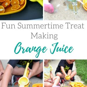 Summer activity fun: making orange juice