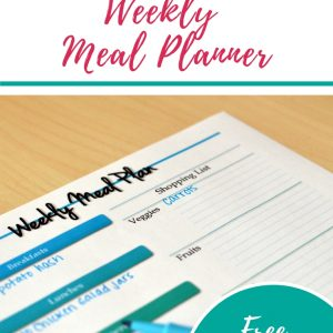 Easy to use meal planning printable. Free printable. Easy meal planning.