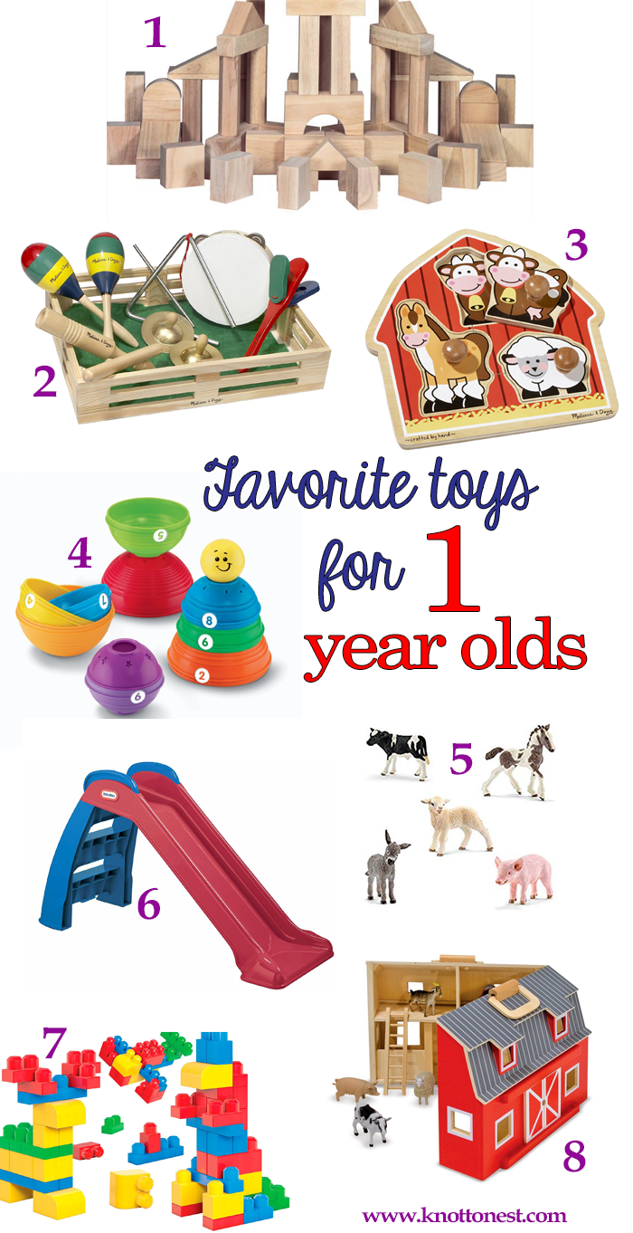 Favorite Toys for One Year Olds