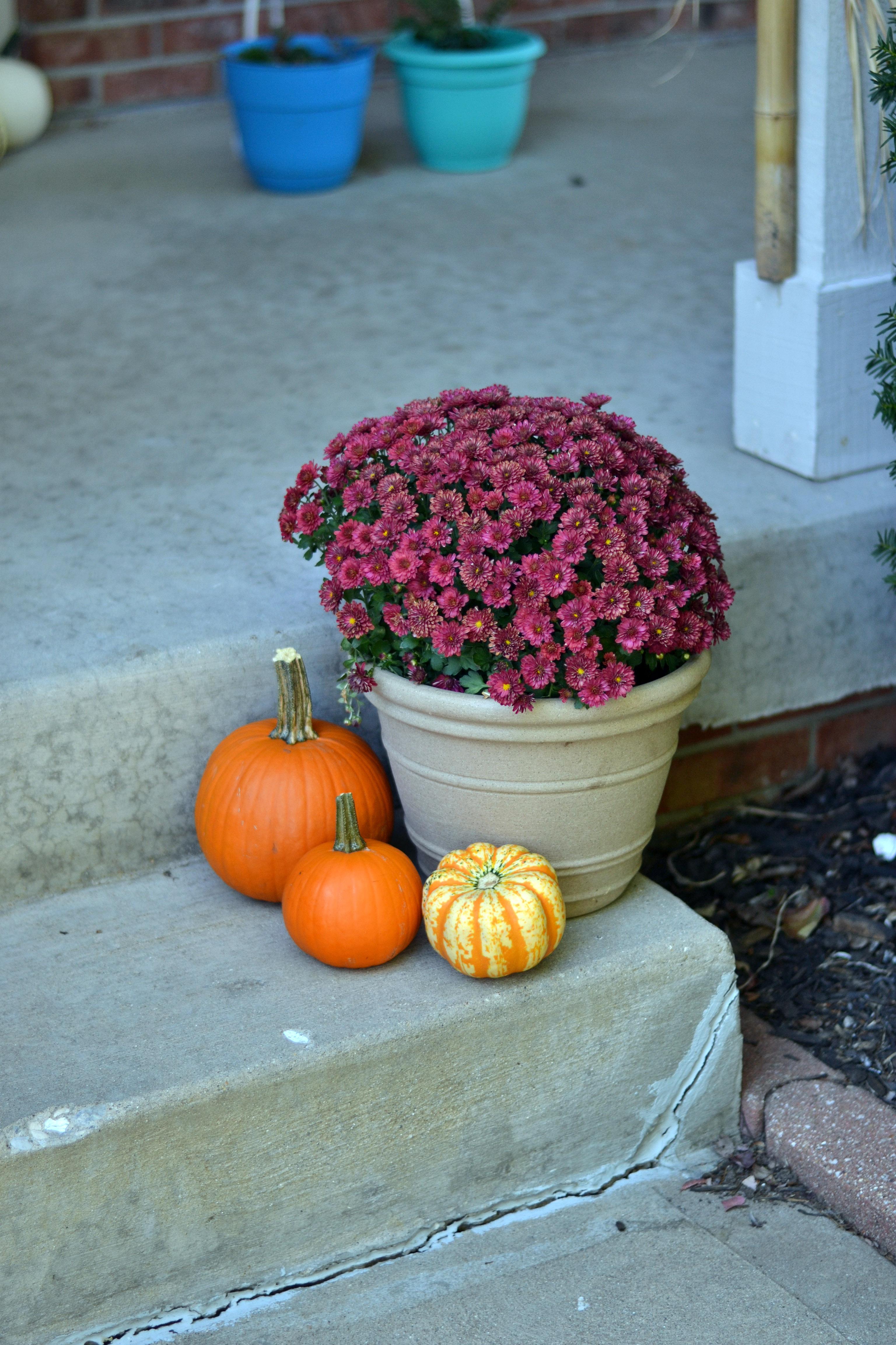 easy fall front porch decor