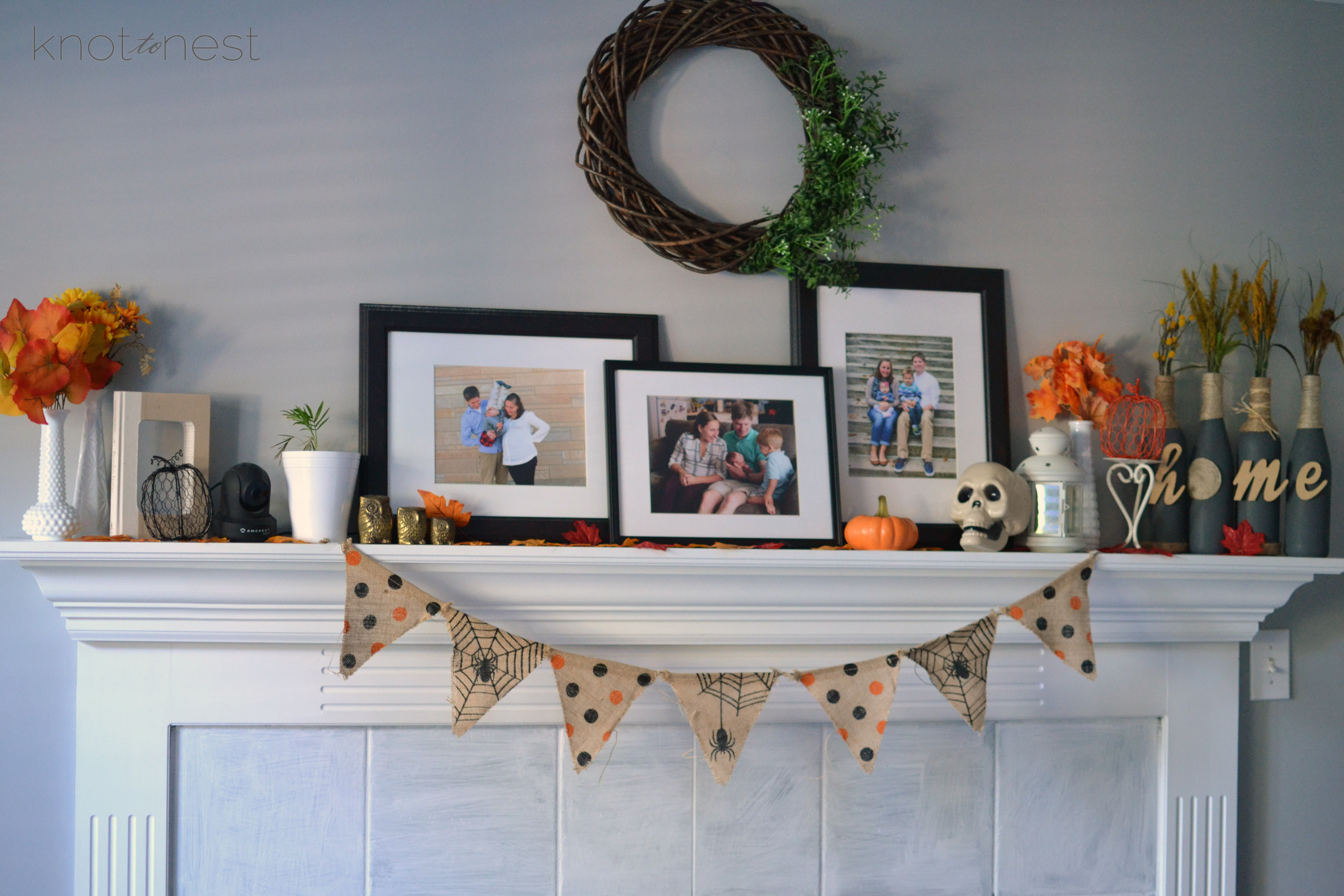 Halloween Fireplace Decorations