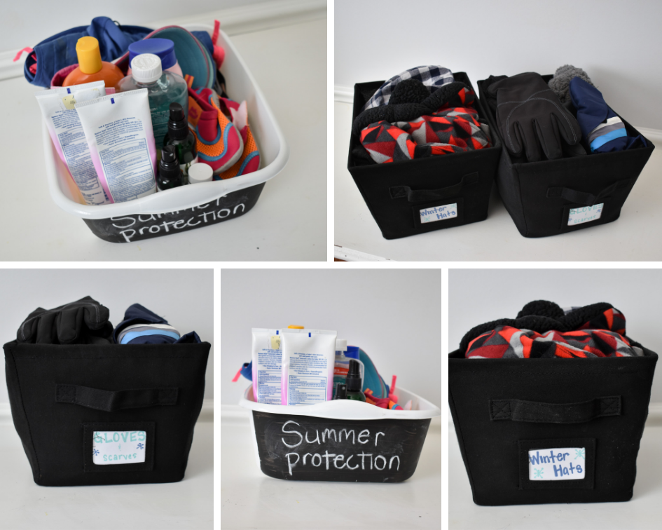 Seasonal gear organization tips and tricks. Affordable storage options to make life easier.