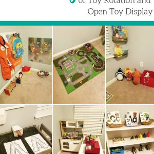 The magic of toy rotation and open toy display. Watch as your children play longer with fewer toys!