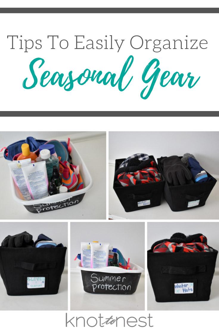 Tips for organizing seasonal gear