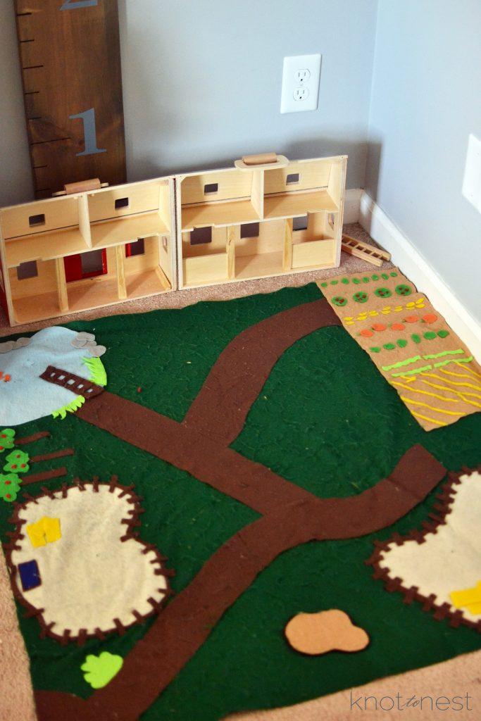 Melissa and doug play barn set up