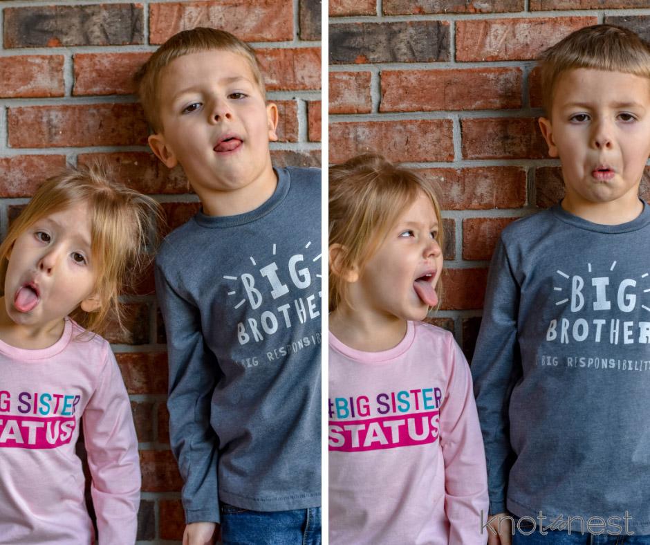 Sibling gender reveal