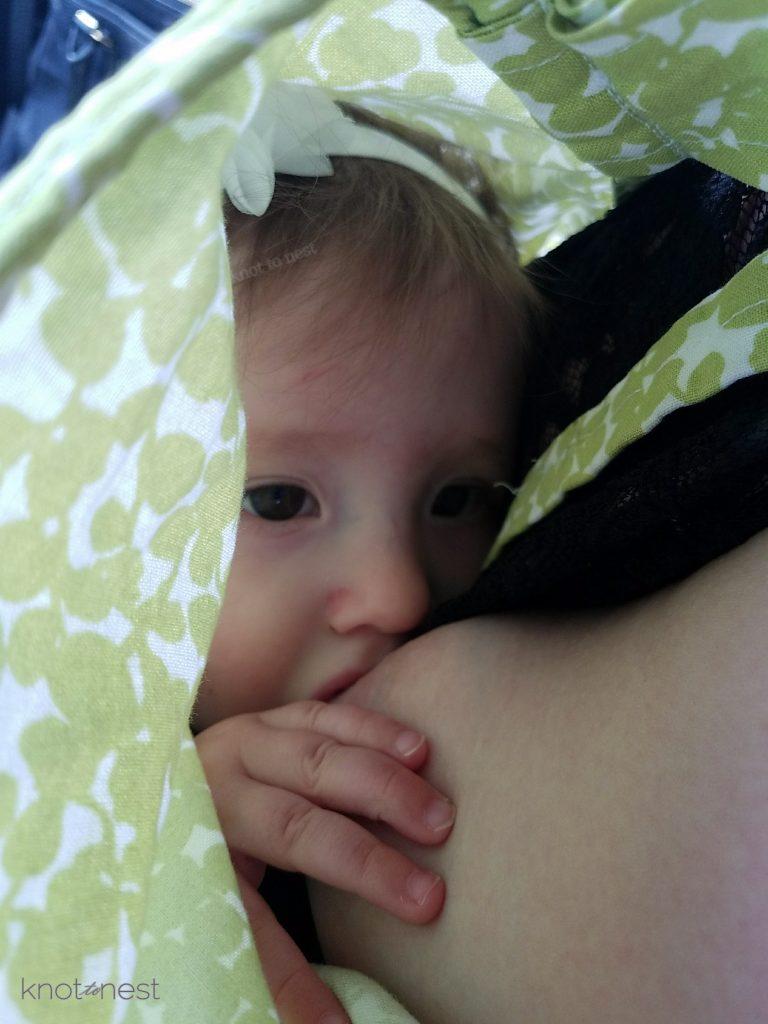 Toddler nursing.
