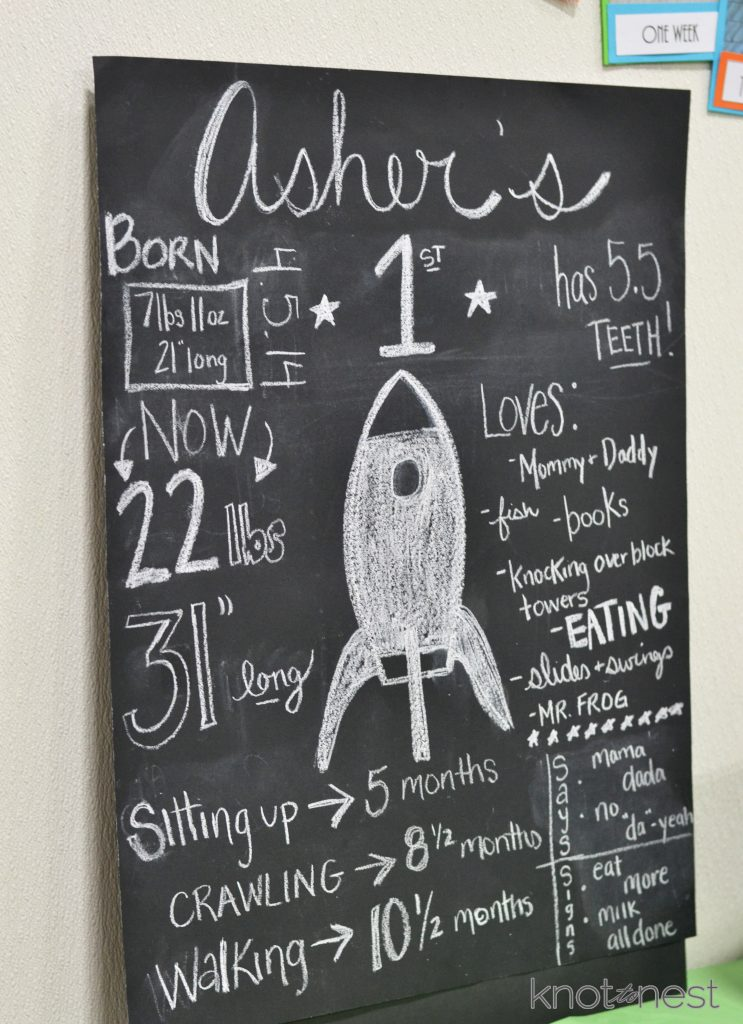 DIY first birthday board