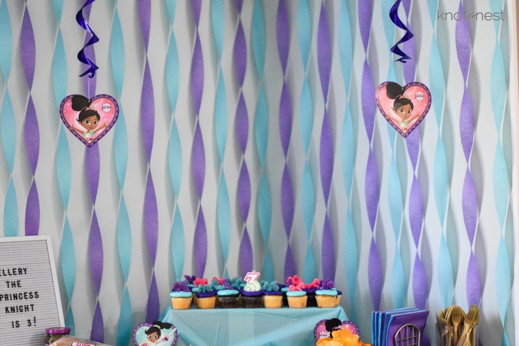Nella the princess knight birthday party decorations.