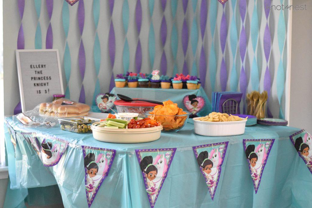 Nella the princess knight birthday party ideas