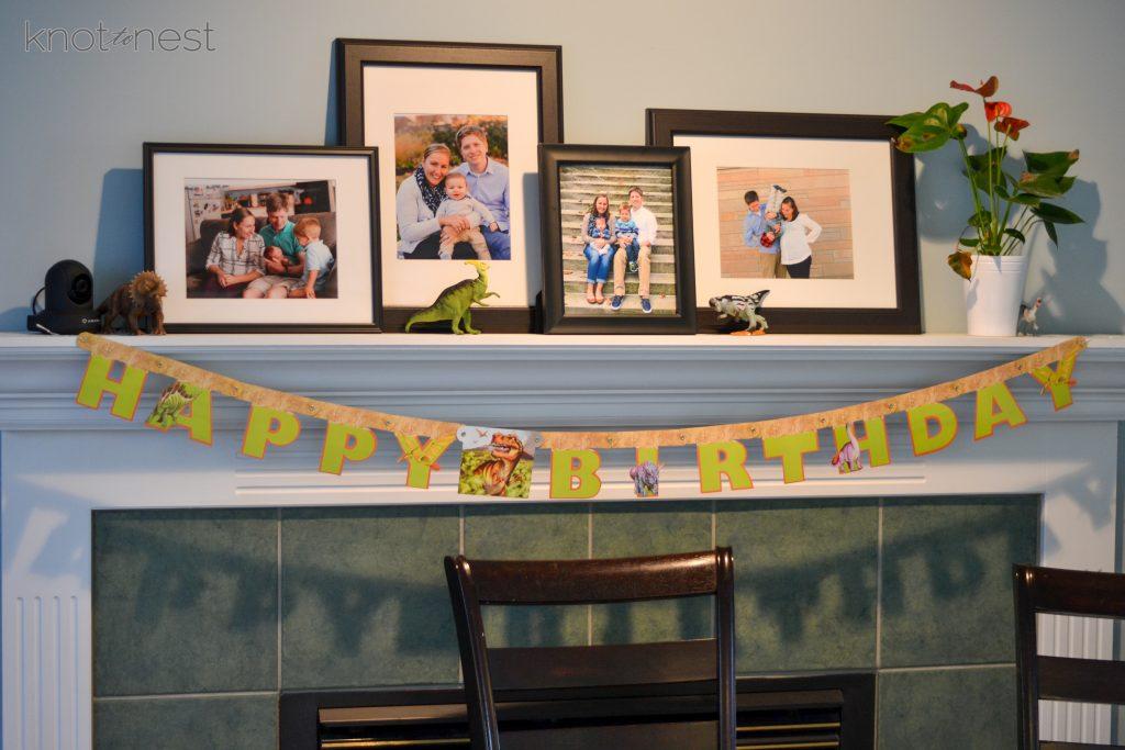 Dinosaur birthday party ideas.