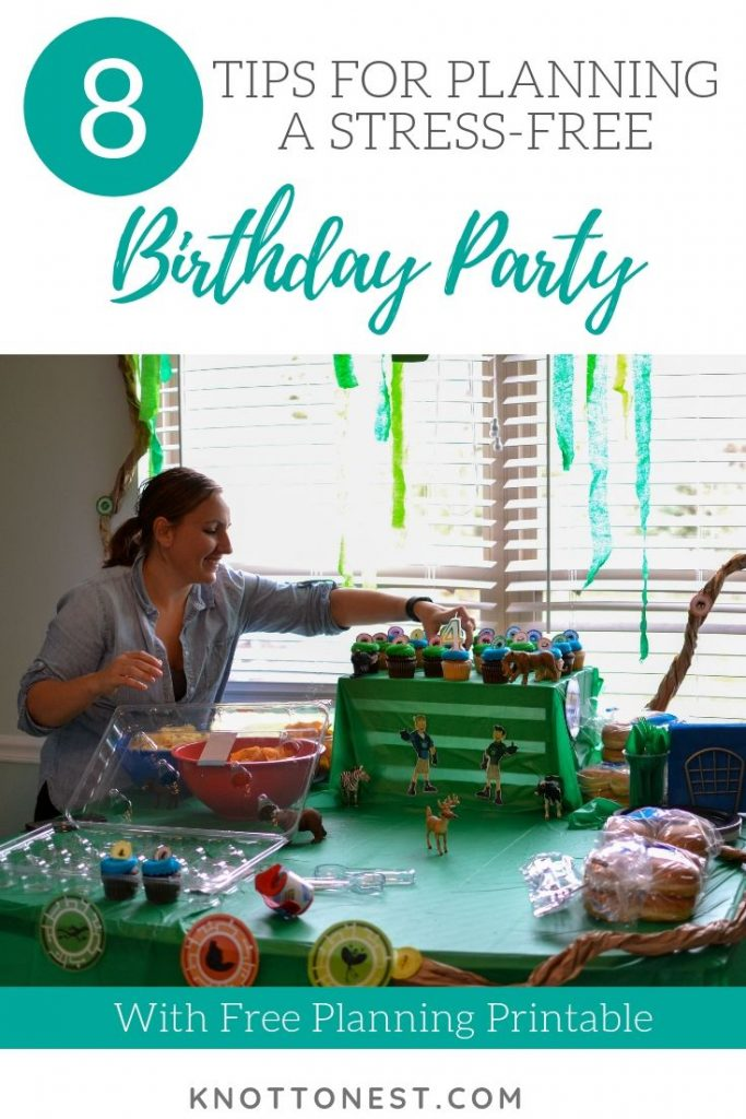 Tips for planning a stress-free birthday party