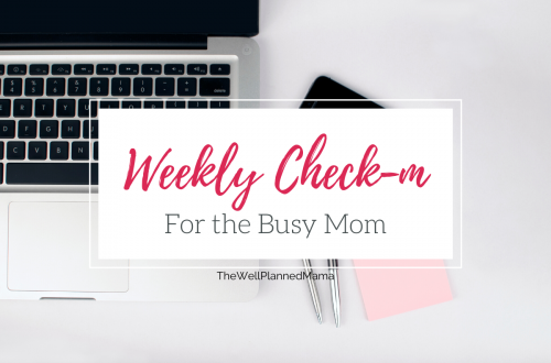 A weekly checkin printable for busy moms