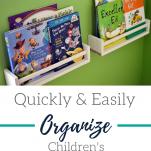 An organized book shelf for organizing children's books
