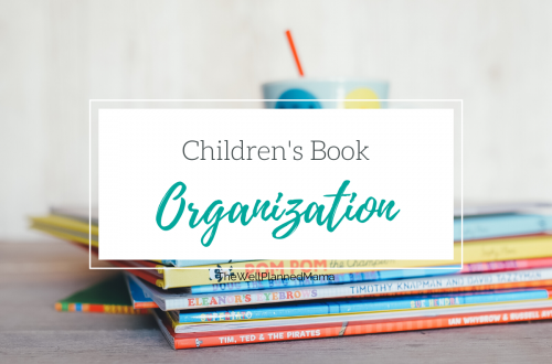 Organization ideas for children's books