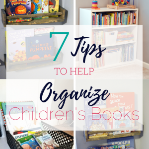 7 tips for organizing children's book
