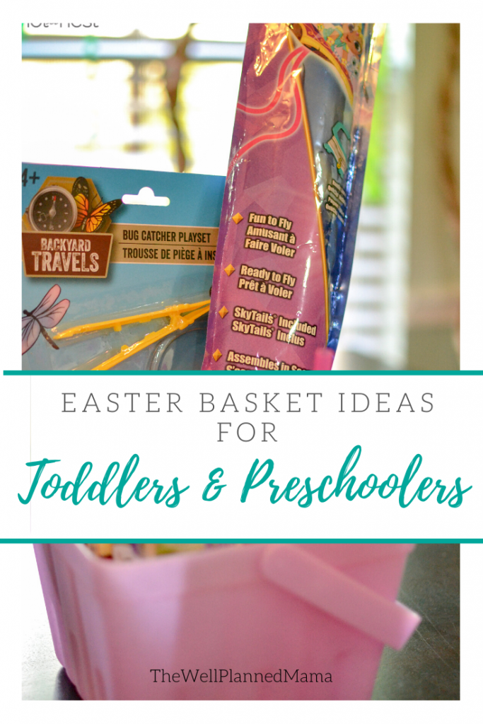 Easter basket ideas for toddlers and preschoolers that are candy-free.