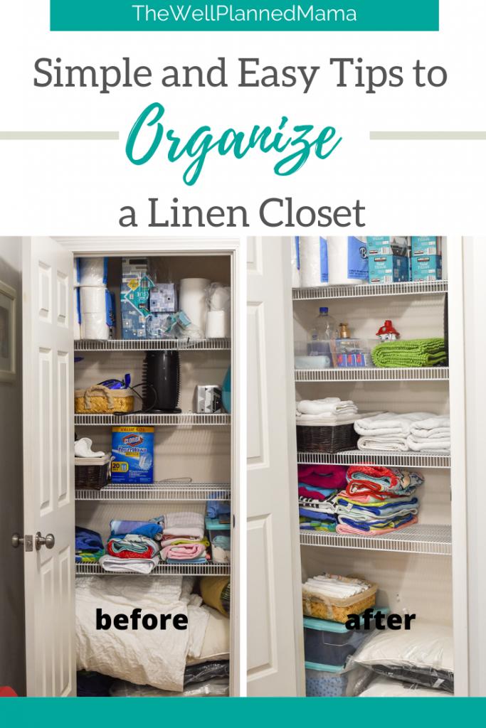 Linen Closet Storage and Organization