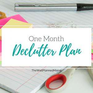 One month declutter plan