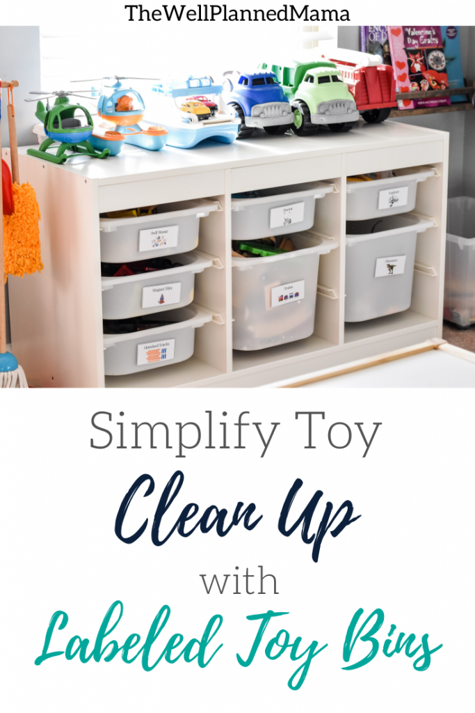 Toy Labels printable for easy playroom organization