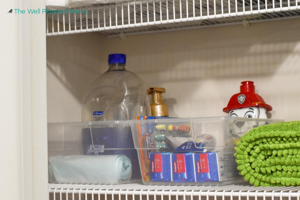 Easy linen closet storage solutions