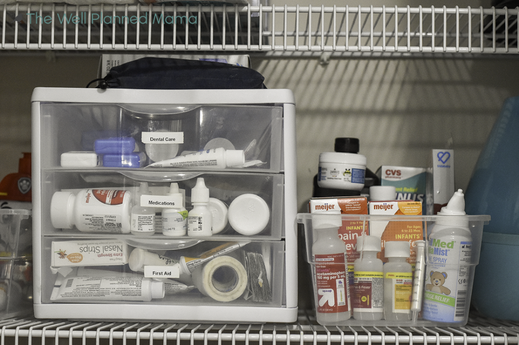 Fully stocked home first aid kit