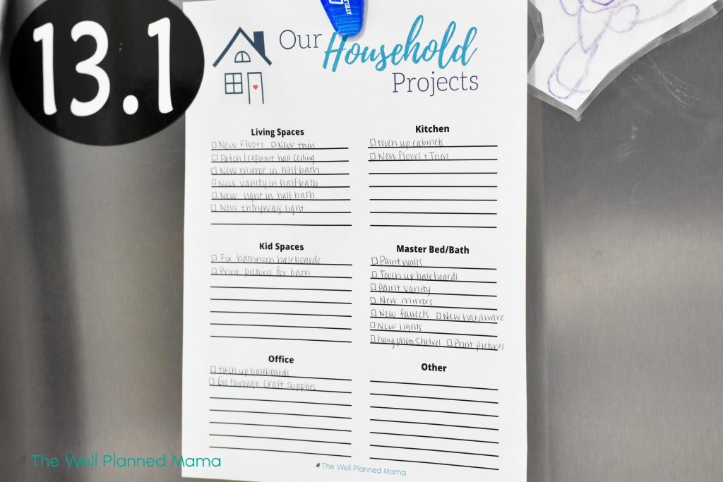 Printable for home projects