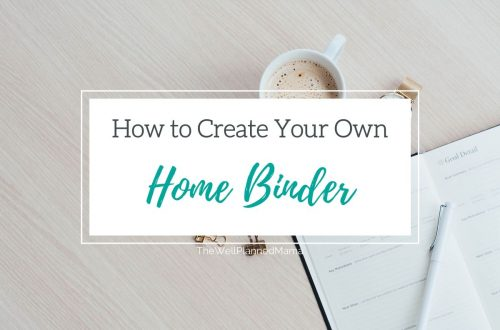 Creating a home binder