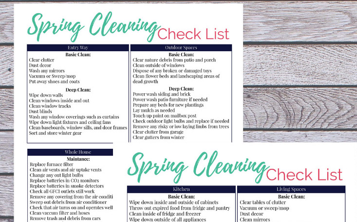 Spring Cleaning ChecklistRS