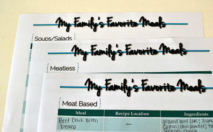 favorite meals indexRS