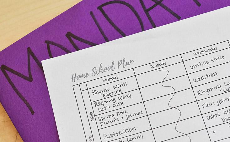 home school scheduleRS