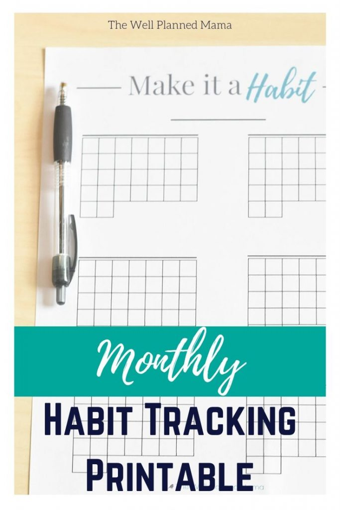 Create new habits and stick with your goals with a monthly habit tracking printable.    #freeprintable #goaltracker #monthlyhabittracker