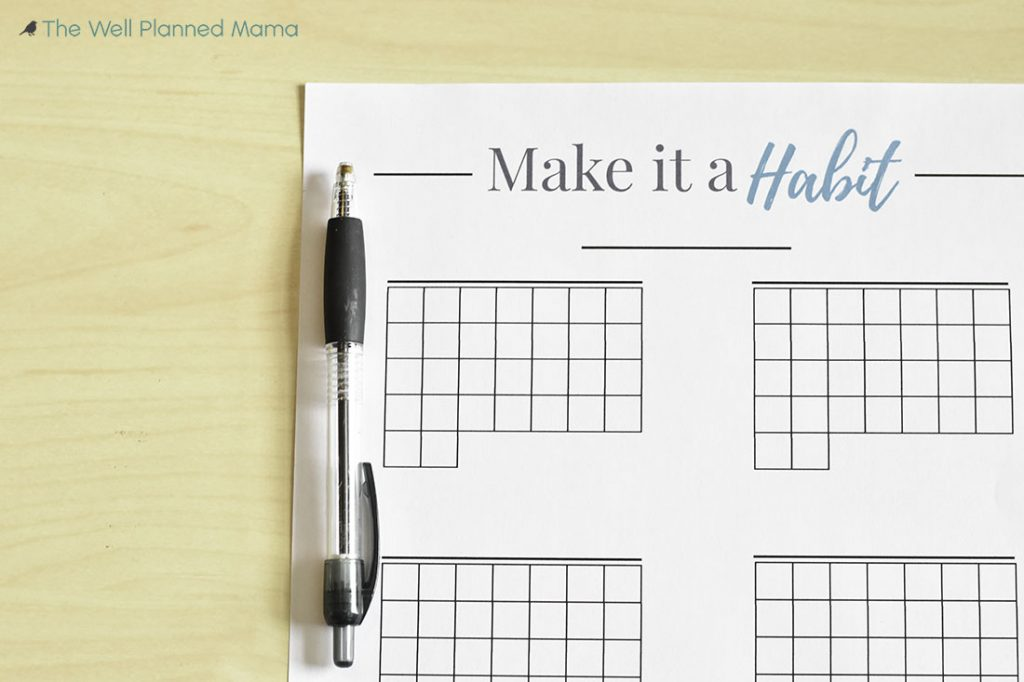 A free habit tracking printable to help accomplish goals and achieve new habits