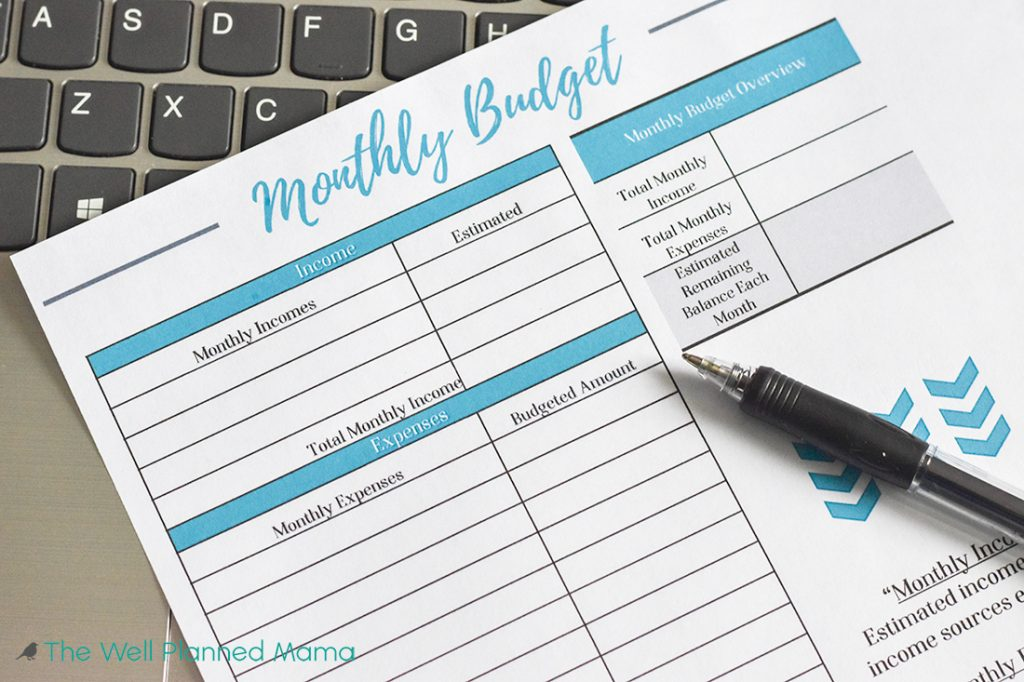 How to make a budget printable