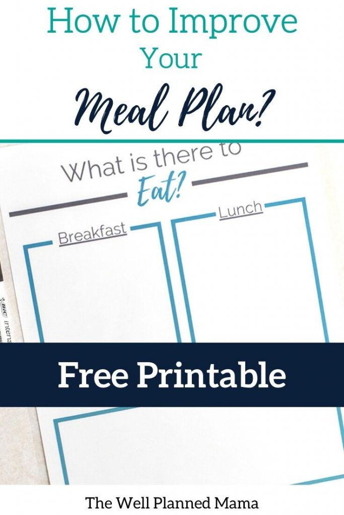 Meal planning tool to help with using leftovers.