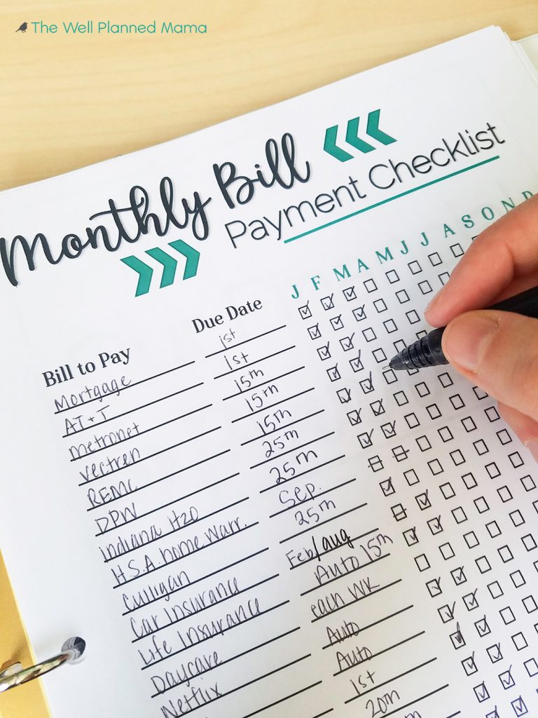 Monthly Bill Payment Tracker