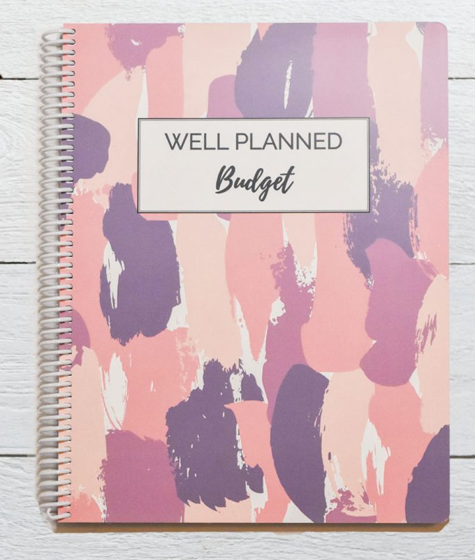Budget Planner Shades of Purple Cover